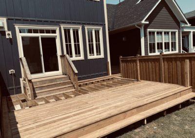 Windfall, Blue Mountain Deck: Construction 1