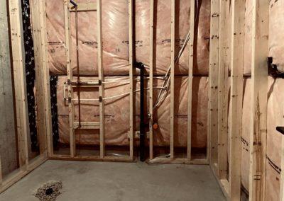 Windfall, Blue Mountain 2 - Bathroom framing and plumbing